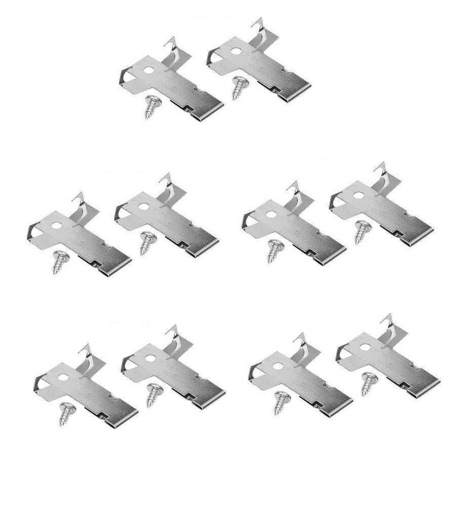 Premium Recessed Light Retrofit C-clips for Downlight | 5 Pairs of Premium Recessed Lighting Clips | For 5 or 6 in. Traverse