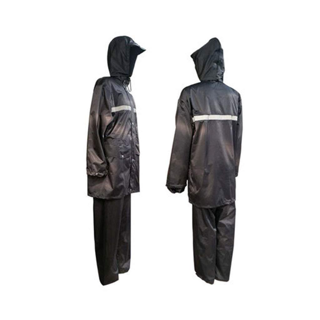 Noir X-grand JTWJ Ensemble imperméable de réflecteur d'extérieur imperméable (Noir Vert Fluorescent) (Couleur   Noir, Taille   XXL)