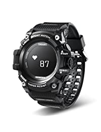 Kingfansion Fitness Tracker with Heart Rate Monitor IP68 Waterproof Activity Tracker Bluetooth Wireless Smart Watch Compatible with iPhone Android Samsung Huawei Sony for Kids Men Women