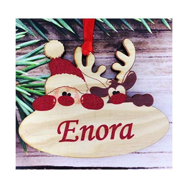 legno Palle di Natale Personalizzate con Nome - Palla per Albero di natale personalizzabile - pallina di Natale personalizzata - decorazione natalizia - Decorazione Natalizia in Legno Naturale 1 spesavip