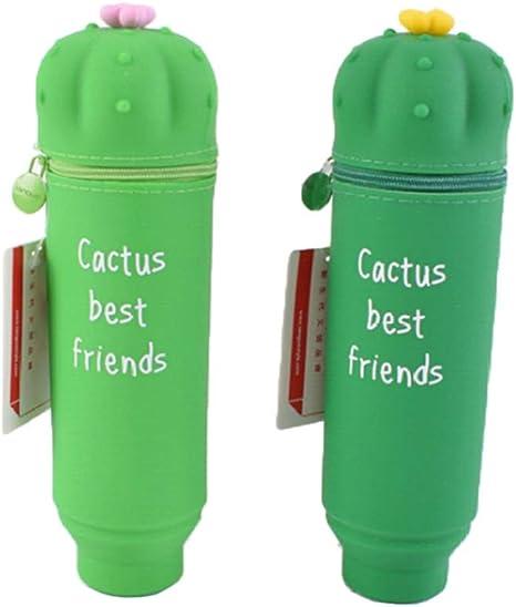 Wher - Estuche de silicona con diseño de cactus, para lápices y monedas, para la escuela, artículos de papelería y regalos para niños: Amazon.es: Juguetes y juegos