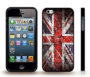 iStar Cases? iPhone 4 Case with U.K. Flag Union Jack Grunge Look Design , Snap-on Cover, Hard Carrying Case (Black)