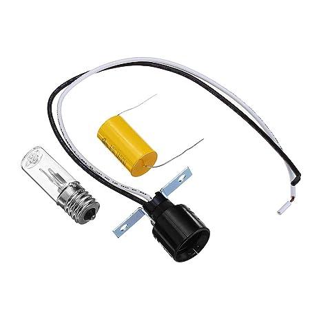 ZHENWOFC E17 3W 254NM Lámpara de desinfección UV de luz de ...