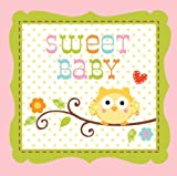 Creative Converting Happi Tree Sweet Baby Girl Beverage Napkins, 16 Count