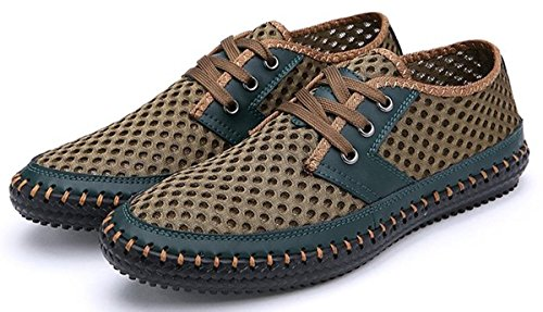 Shoes Lightweight Poseidon Walking Mesh Shoes Men's Casual Green Water Breathable aqZ6w17