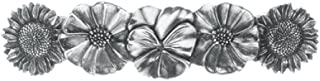 product image for DANFORTH - Flowers Pewter Barrette - 3 1/2 inches - Handcrafted - Made in USA