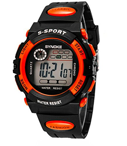 Boys Girls Summer Multi Function Outdoor Waterproof Digital Sports Wrist Watches For Age 5-13 years old by YJLHCYGG