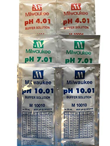 Milwaukee 6x20ml, 2 Each pH4 pH7 pH10 Buffer Solution for pH Meter/Tester ()