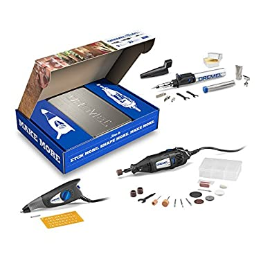 Dremel 2290 3-Tool Craft & Hobby Maker Kit with 200-Series Rotary Tool, Engraver & Butane Soldering Torch