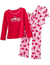 Girl's Size 4 Cocoa, Marshmallows Fleece Pajama Set, With Doll Gown