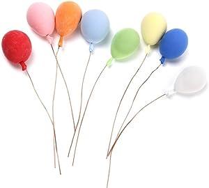 TOYMYTOY 1:12 Dollhouse Miniature Foam Balloons DIY Fairy Garden Dollhouse Decor - 8 Pieces