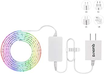 Quotra Wireless ZigBee Smart RGB WW Hue White LED Strip Lights Kit,HUB Required:Hue,Echo Plus.Works with Philips Hue App Remote,Compatible with Alexa,Google Home.Better Than WiFi Light Tap. 2m Starter Kit