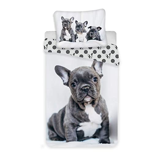Regalitostv Funda EDREDON NORDICO + Funda COJIN 100% Algodon* Cama 90 X 200 CM (Bad Dog)
