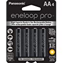 Panasonic BK-3HCCA4BA Eneloop Pro AA High Capacity Ni-MH Pre-Charged Rechargeable Batteries (Pack of 4)