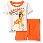The Children's Place Baby Boys' Top and Shorts Set, Neon Fire Coral 79503, 9-12MOS