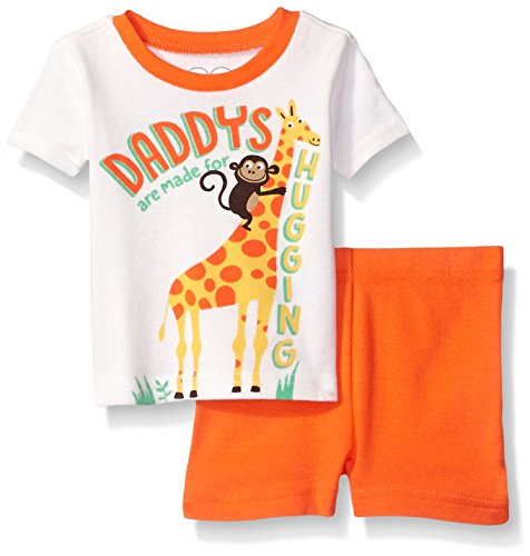 The Children's Place Baby Boys' Screen Tee and Shorts Set, Simply White/Monkey 61789, 0-3 Months