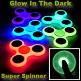 Fidget Spinner Glow in the Dark Long Spinning Tri Toy Wholesale (Pack of 24X)