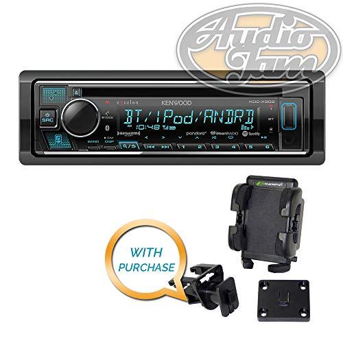Kenwood Excelon KDC-X303 CD Receiver with Bracketron Grip-iT PHV-200-BL Car Mount Phone ()