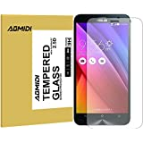Zenfone 6 Screen Protector, AOMIDI Tempered Glass Screen Protector for ASUS Zenfone 6, 0.3MM Thickness, 2.5D Round Edge, High Definition, 9H Hardness (CLEAR, 1 Pack)