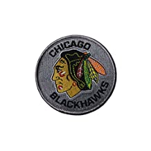 CHICAGO BLACKHAWKS NHL Hockey Logo Embroidered Iron On Patch Crest Badge .. Size : Small 7.5 Cm In Diameter ... New