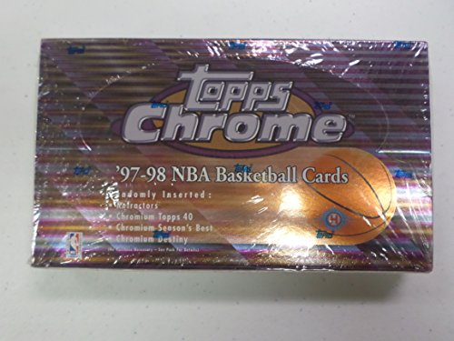 97-98 NBA Hobby Topps Chrome Basketball Factory Sealed Box