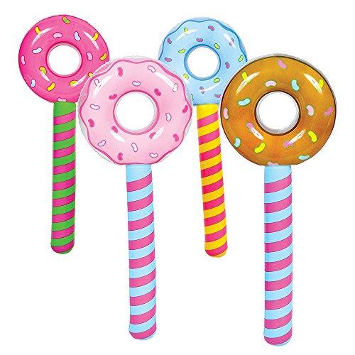 new-24-inflatable-lollipop-suckers-birthday-donut-holes-wonka-candyland-valentine-4pcs