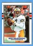 Don Majkowski 1989 Topps Football Rookie Card (Packers)