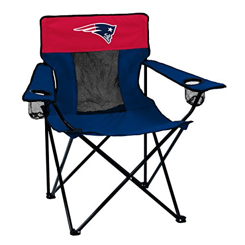 Chair New Chairs - Logo Brands NFL New England Patriots Folding Elite Chair with Mesh Back and Carry Bag, Navy, One Size