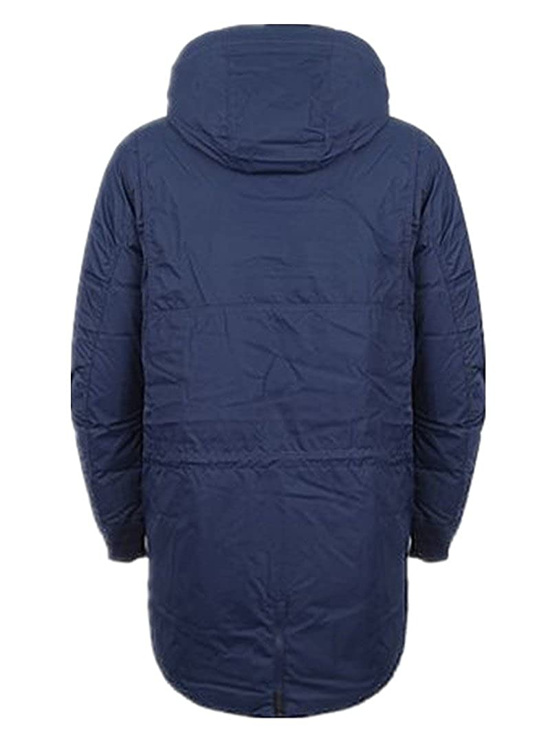 ea8321e3c Nike AIR Jordan Men's Long Hooded Down Outerwear Coats 807952-410 (XS) Dark  Blue at Amazon Men's Clothing store: