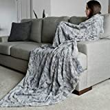 GRACED SOFT LUXURIES Oversized Softest Warm Elegant Cozy Faux Fur Home Throw Blanket 60