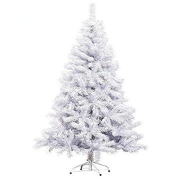 Tannenbaum Weiss Led.Hengda 180cm Led Künstlicher Modischer Weiß Weihnachtsbaum Tannenbaum Kunstbaum Kusttanne Mit Metallfuß Für Innen Und Außen