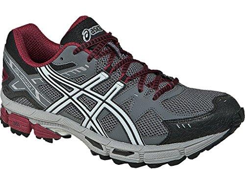ASICS Men's Gel-Kahana 7 Running Shoe,Titanium/Lightning/Red,10.5 M US (Fore Plush)