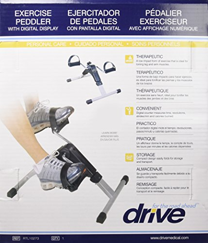 Drive Medical Deluxe Folding Exercise Peddler with Electronic Display , Black Model # RTL10273 by Drive Medical (Image #9)