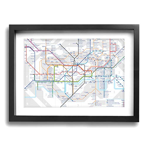 London Underground Map Tube Lines Contemporary Canvas Prints Framed Wall Art Paintings Artworks Pictures For Living Room Bedroom Decoration