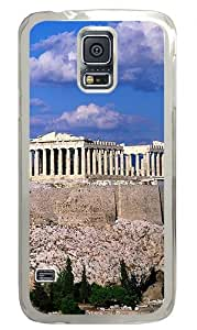 Blue Sky Acropolis Border Buildings Custom Samsung Galaxy S5 Case Back Cover, Snap-on Shell Case Polycarbonate PC Plastic Hard Case Transparent
