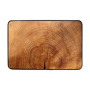 """Alfombrillas de madera para puerta de garaje, alfombrillas para interior/puerta delantera/baño, alfombrillas para el hogar/oficina/dormitorio antideslizantes (23,6"""" x 15,7"""" L x W)"""