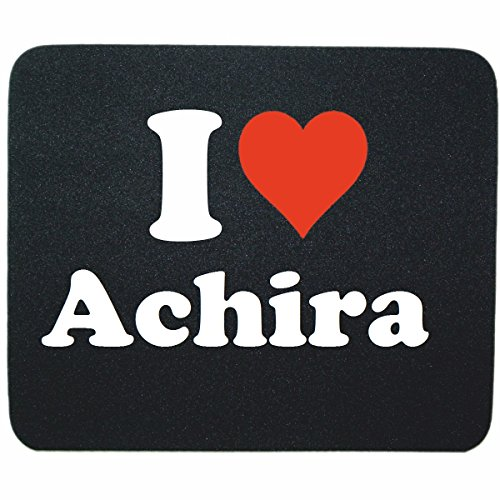 "EXKLUSIV: Mousepad ""I Love Achira"" in Black, a great gift idea for your partner, colleagues and many more!"