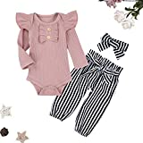 Newborn Baby Girl Clothes Ruffled Long Sleeve