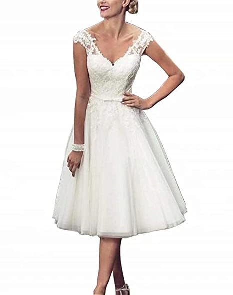 Amazon.com: Vestido de novia para mujer, de encaje: Clothing