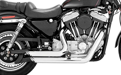 Vance & Hines Shortshots Staggered Exhaust Chrome 17213 (Best Exhaust For Dyna Wide Glide)