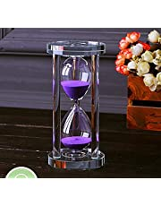 MINGZE Zandloper, Transparante Kristallen Timer Glas Zand Klok Horloge Ambachtelijke Glazen Decoratie Voor Keuken Kantoor Home Creatieve Decor Gift