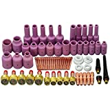 TIG Gas Lens Back Cap Collet Body Assorted Size Kit Fit TIG Welding Torch SR WP17 18 26 67pcs