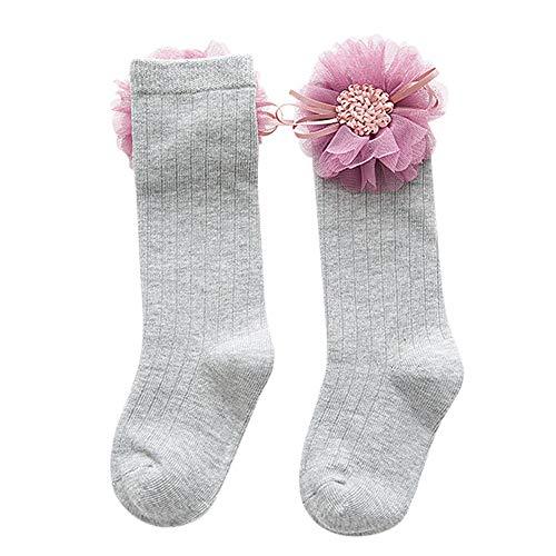 Londony▼ Unisex-Kids Toddler Baby Seamless Anti-Slip Knitted Soft Nylon Kawaii Knee High Socks ()