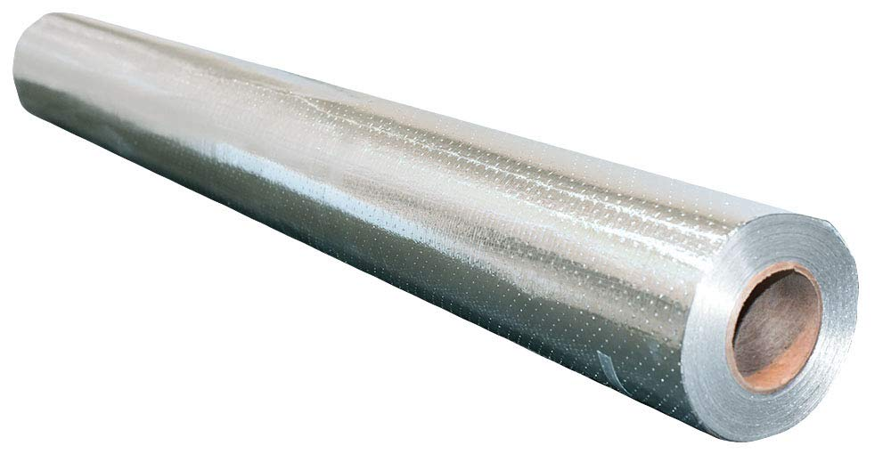 NASATECH: Barrera radiante para casa residencial de 48 x 250 mm, rollo de 1000 pies cuadrados, aluminio reflectante, transpirable, perforado, impermeable, ...