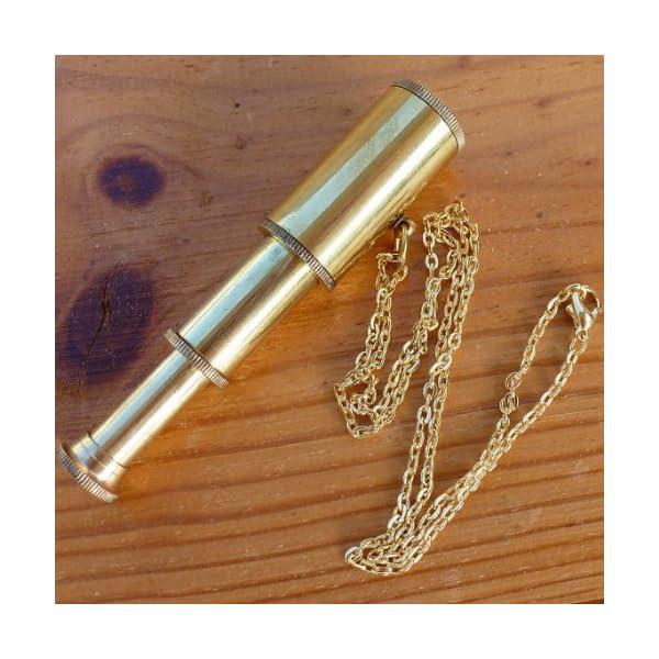 UMBRELLALABORATORY Steampunk Antique Nautical Necklace - Telescope Necklace 5
