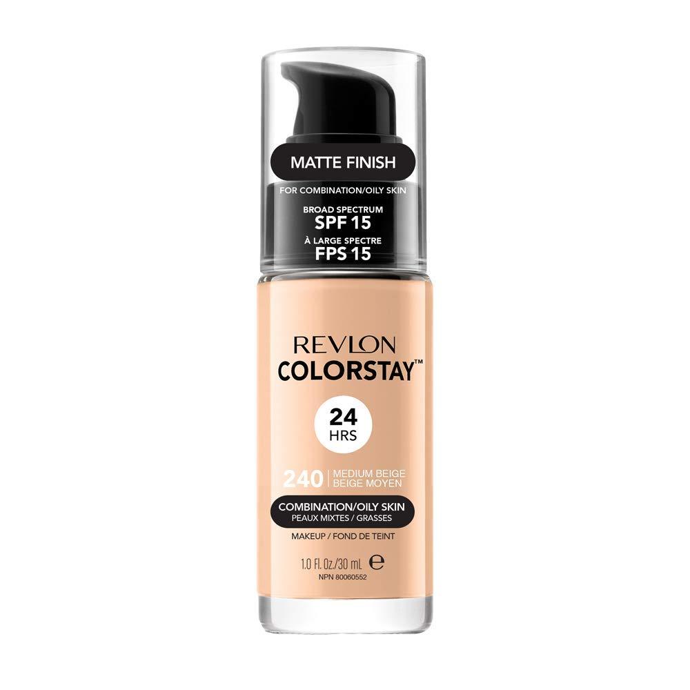 Revlon ColorStay Base de Maquillaje piel mixto/graso FPS15 (240 Medium Beige) 30 ml
