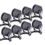 CO-Z 86 RGB LED Stage Lights Par DMX 512 Lighting Party Club DJ Disco Moving Heads (8 PCS)