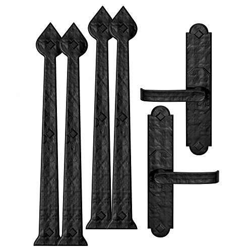 Decorative Metal Accents - Creative Hardware 480-07 Magnetic Garage Door Handle/hinge Decorative Accent Set Aspen (6 Piece)