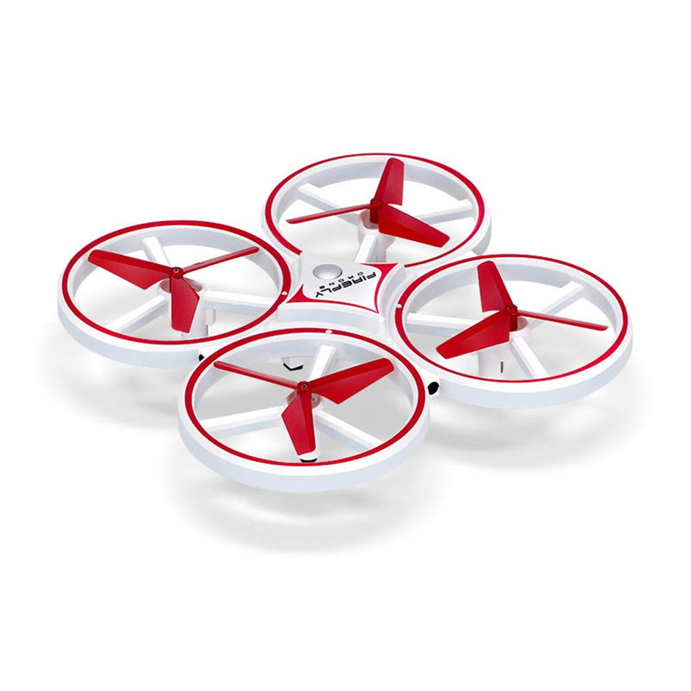 INYANIDI Gesture Remote Control Quadcopter Intelligent Suspension Induction Aircraft Drone (red)