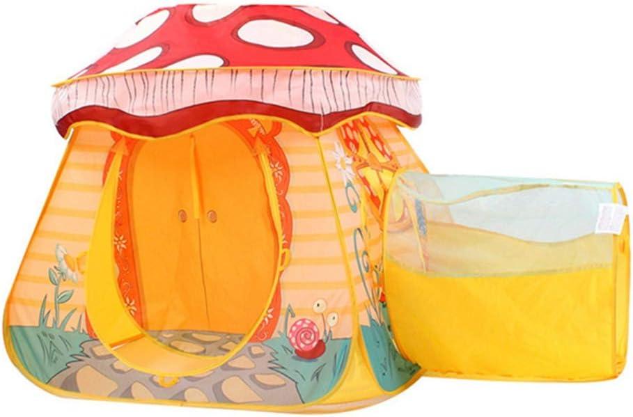 EARTHTYJ 87 * 87 * 88 Cm Carpa Infantil Play House Indoor Niños Y Niñas Juguetes Pequeña Casa Marina Bola Piscina Seta Casa Poliéster,Orange